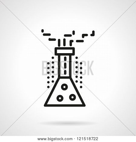 Chemical reaction black line design vector icon