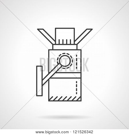 Turnstile flat line design vector icon