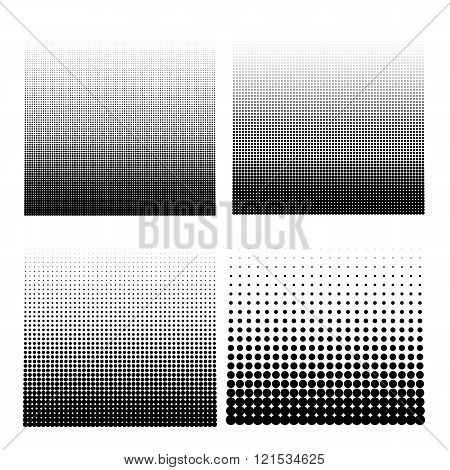 Vector illustration set of halftone.
