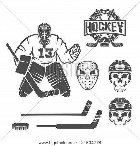 ice hockey goalie elements