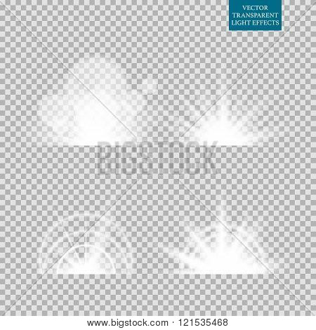 Abstract image of lighting flare. Set