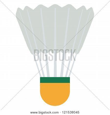 Vector Badminton shuttlecock illustration. Shuttlecock isolated on white background. Badminton shutt