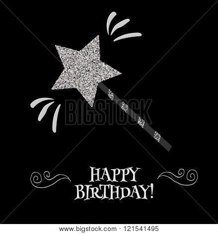 Birthday Card With Magic Wand