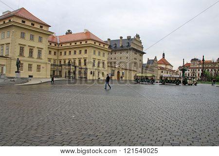 Prague, Czech Republic - April 29, 2013: Hradcany Square In Prague