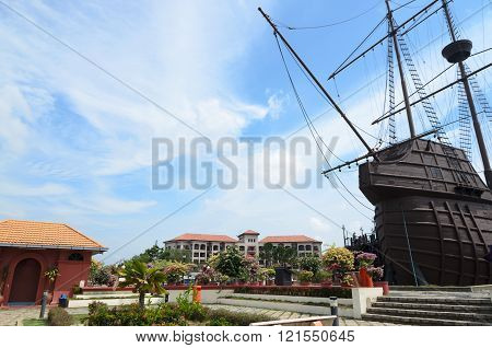 View To Historical City Center Of Malacca