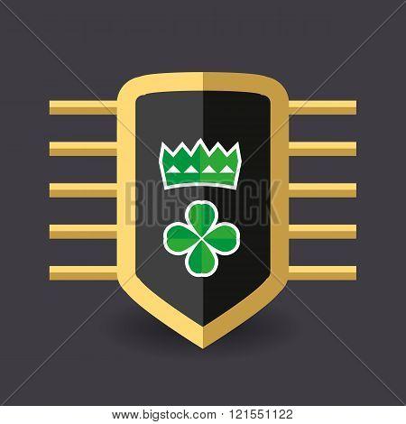 Magic Shield, Crown And A Quatrefoil Clover