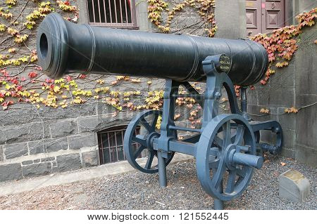 Russian cannon captured by British army in Crimea