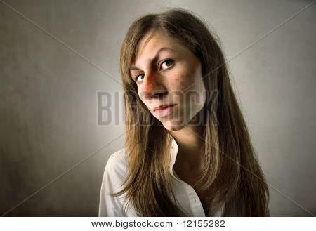portrait of ugly girl