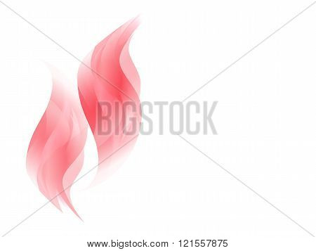 Abstract background with red curving lines, abstract flames, vector illustration