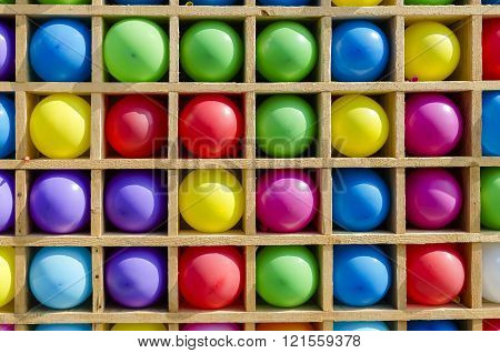 Balloons As Targets In The Street Dash Abstract Background