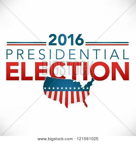 Retro or Vintage Style Vote 16 Presidential Election with Pin Button or Badge