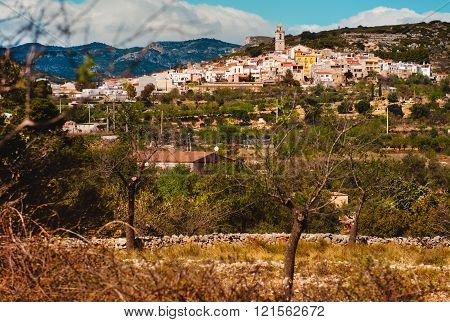 Rossel town. Province of Castellon in the Valencian Community Spain.