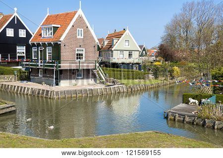 Dutch houses in Marken