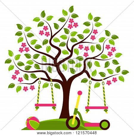 Flowering Tree And Toys