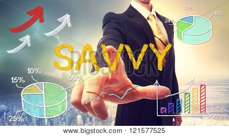 Savvy Concept With Businessman