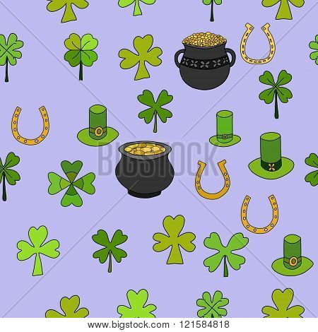 Saint Patrick's Day Vector Seamless