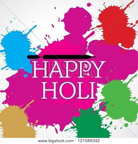 colorful holi festival idea concept vector illustration