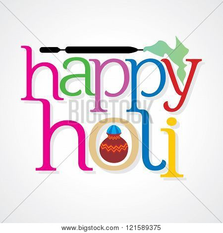 colorful holi festival celebration concept vector illustration