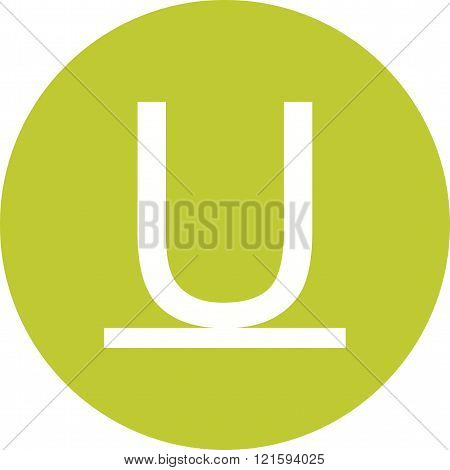 Underline, stroke, line icon vector image. Can also be used for text editing. Suitable for use on web apps, mobile apps and print media.