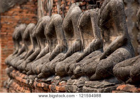 Headless Buddha Statues, Ayutthaya