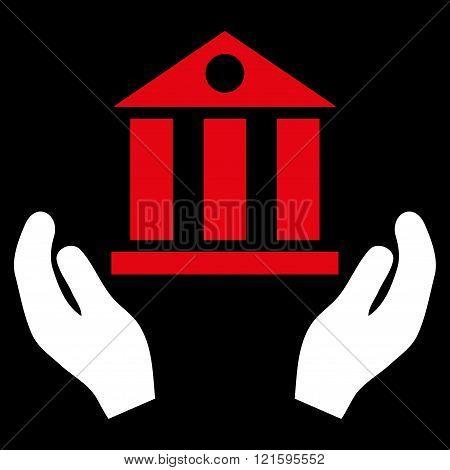 Bank Service Flat Vector Symbol