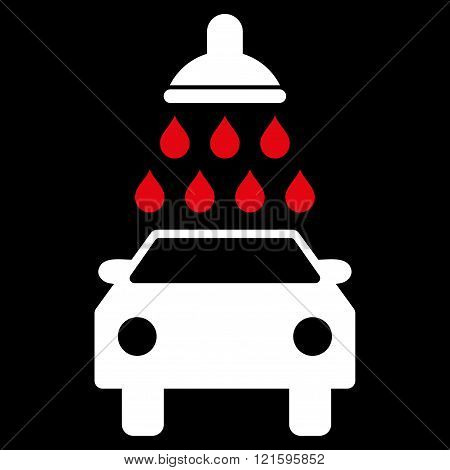 Car Wash Flat Vector Symbol