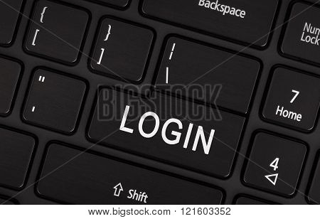 Black Login Button