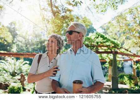Senior Couple Together In A Park