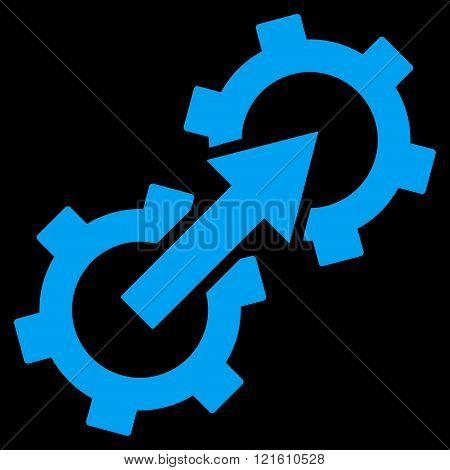 Gear Integration Flat Vector Symbol