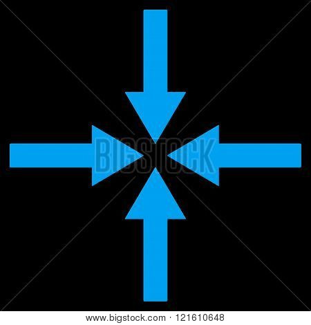 Impact Arrows Flat Vector Symbol