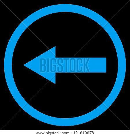 Left Rounded Arrow Flat Vector Symbol