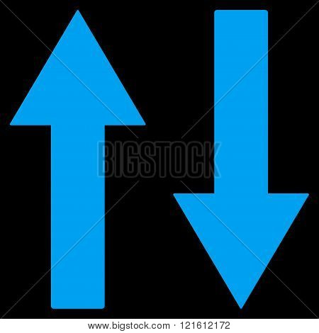 Vertical Flip Arrows Flat Vector Symbol