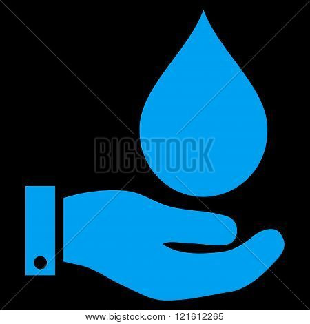 Water Service Flat Vector Symbol