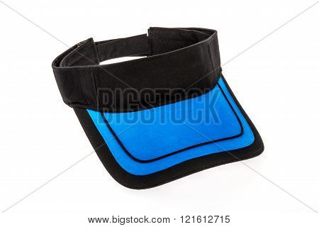 Junior golf black and blue visor