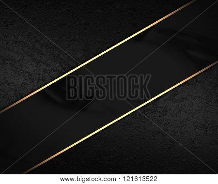 Black Velvet Background With Black Plate. Element For Design On Black Background. Template For Desig