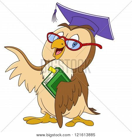 Educated Cartoon Owl