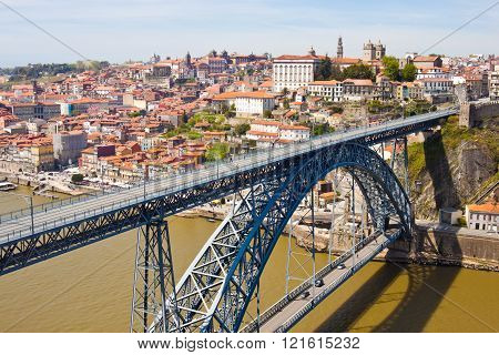 Dom Luis Bridge In Porto