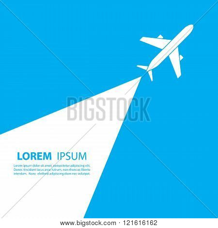 Airplane logo design. Airline logo design. Sky travel, travel agency logo, vector logo template. poster