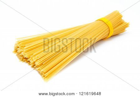 Uncooked Italian Spaghetti Isolated