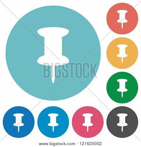 Flat Pin Icons
