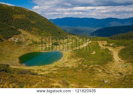 Carpathian Mountain Lake