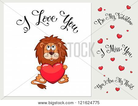 Cartoon valentine's day card
