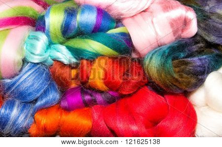 Mixed Group Of Bright Wool