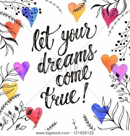 Inspiring poster about dreams