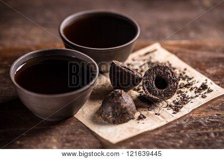 Pressed Pu-erh Tea