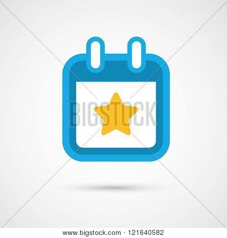 Vector Calendar Icon - star