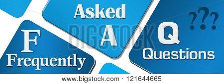 FAQ Blue Rounded Squares Horizontal