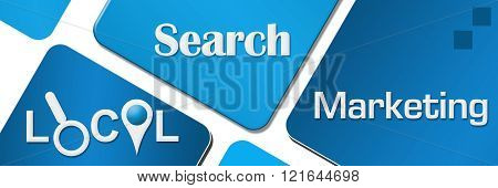 Local Search Marketing Blue Rounded Squares Horizontal