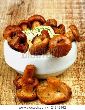 Delicious Roasted Chanterelles