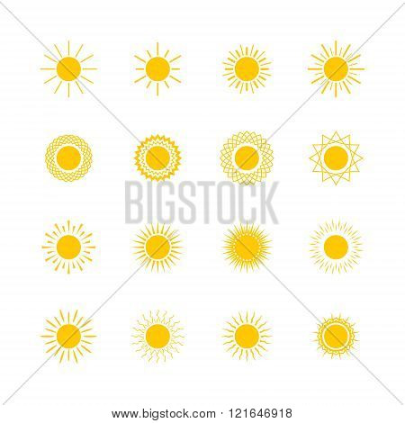 Set of Sun Shapes